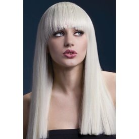 Fever/Smiffys Alexia Wig Long Blunt Cut - Blonde