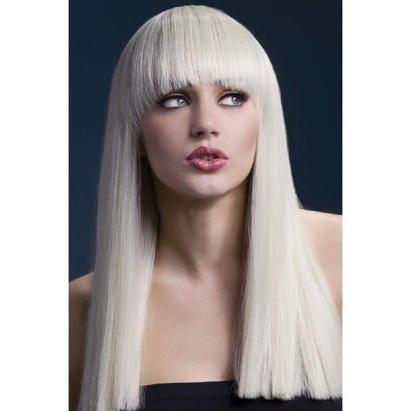 Fever/Smiffys Alexia Wig Long Blunt Cut - Blonde
