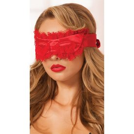 Seven 'til Midnight Satin Eye Mask Red