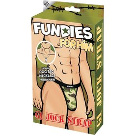 Envy Fundies GI Jock with Dog Tags - One Size Fits Most