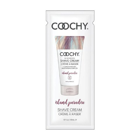Coochy Shave Cream - Island Paradise-  15 ml Foil