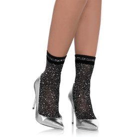 Leg Avenue Shimmering Anklets Black/Silver