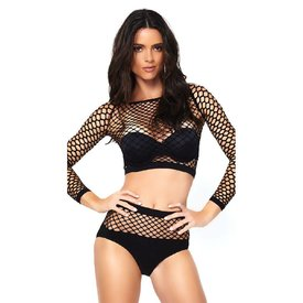 Leg Avenue Industrial Net Top And Panty Set