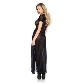 Leg Avenue Sheer Mesh Short Sleeve Gown