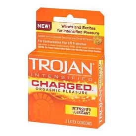 Trojan Intensified Charge Condom 3-pack