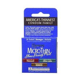 Kimono Microthin Condom Variety 3-pack