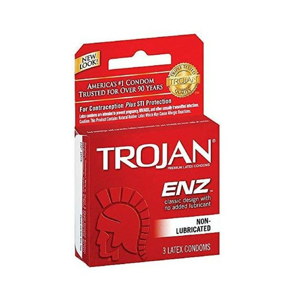Trojan ENZ Non-Lubricated Condom 3-pack