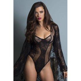 Oh La La Cheri Chantal Lace & Lattice Net Teddy