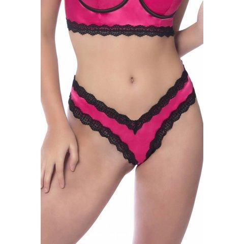 Penelope Pink Scallop Lace Thong