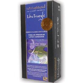 Durex L.A. Confidential Condom Love Triangle 12pk