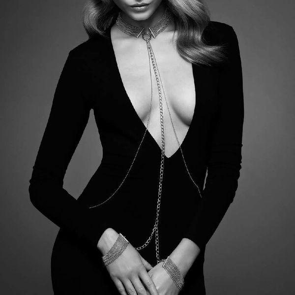Bijoux Indiscrets Magnifique Chain Collar - Silver