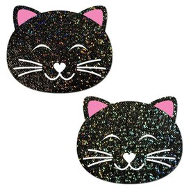 Pastease Happy Black Cat Glitter Pasties