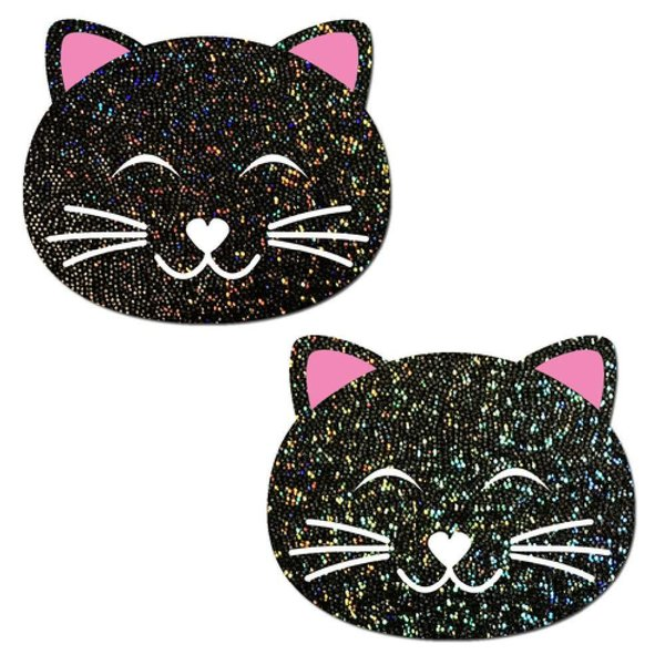 Pastease Happy Black Cat Glitter Pasties