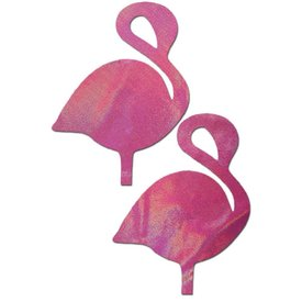 Pastease Holographic Pink Flamingo Pasties