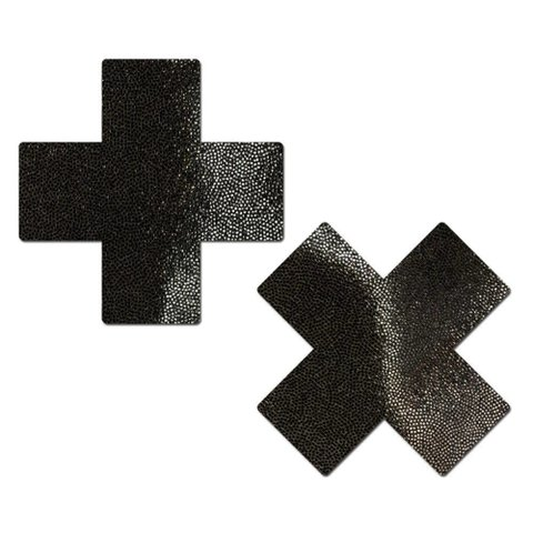 Liquid Black Cross Reusable Pasties