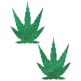 Pastease Glittering Green Pot Leaves Pasties