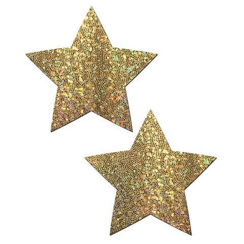 Gold Glitter Star Pasties