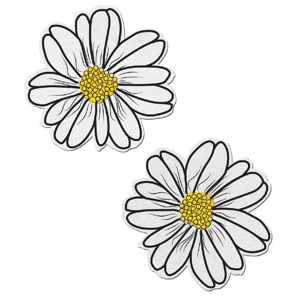 Pastease White and Yellow Wildflower Pasties