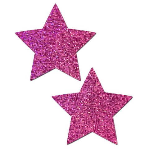 Hot Pink Glittering Star Pasties