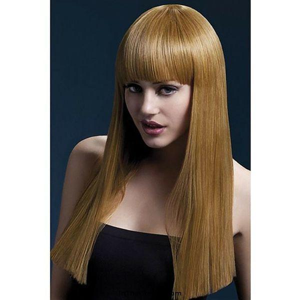 Fever/Smiffys Alexia Wig Long Blunt Cut - Auburn