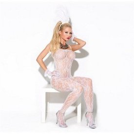 Elegant Moments Lace Bodystocking - White