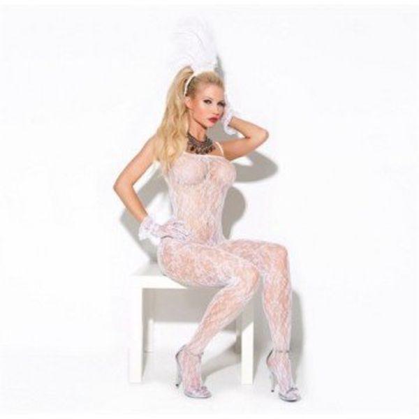 Elegant Moments Lace Bodystocking - White