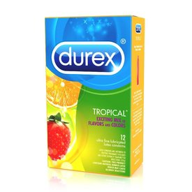 Durex Tropical Flavors Condom 12-pack