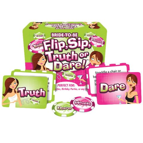 Flip, Sip, Truth or Dare Game