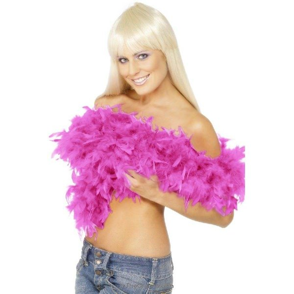 Fever/Smiffys Deluxe Feather Boa - Fuschia