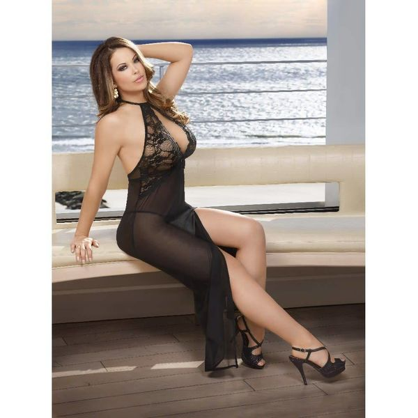 Exposed Pure Bliss Keyhole Gown and Panty