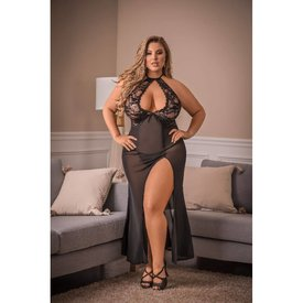 Exposed Pure Bliss Keyhole Gown and Panty - Curvy