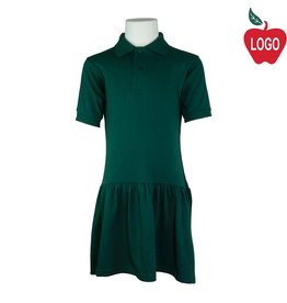 School Apparel A+ Green Knit Dress #9729