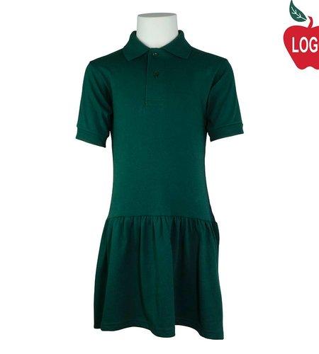 School Apparel A+ Green Knit Dress #9729