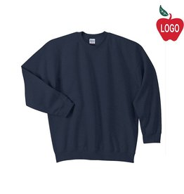 Gildan Navy Crew-neck Sweatshirt #18000