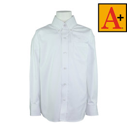 School Apparel A+ White Long Sleeve Oxford Shirt #8066