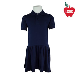 School Apparel A+ Navy Blue Short Sleeve Knit Dress #9729