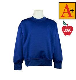 School Apparel A+ Royal Blue Crew-neck Sweatshirt #6130