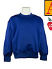 School Apparel A+ Royal Blue Crew-neck Sweatshirt #6130
