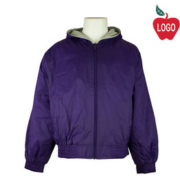 Classroom Purple Hooded Nylon Jacket #53402