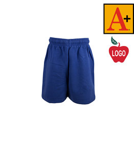 School Apparel A+ Royal Blue Sweatshort #6250
