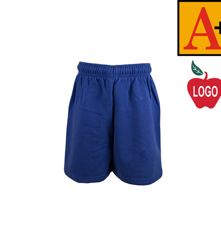 School Apparel A+ Royal Blue Sweatshort #6250