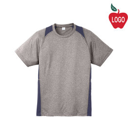 Sport-Tek Grey & Navy Short Sleeve Tee #ST361