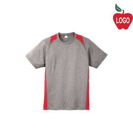 Sport-Tek Grey & Red Short Sleeve Tee #ST361