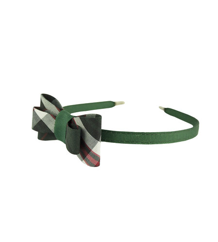 EE Dee Trim Sequoia Plaid Bow Headband #FBE9HB