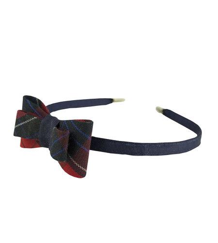 EE Dee Trim Woodland Plaid #94 Bow Headband #FBE9HB