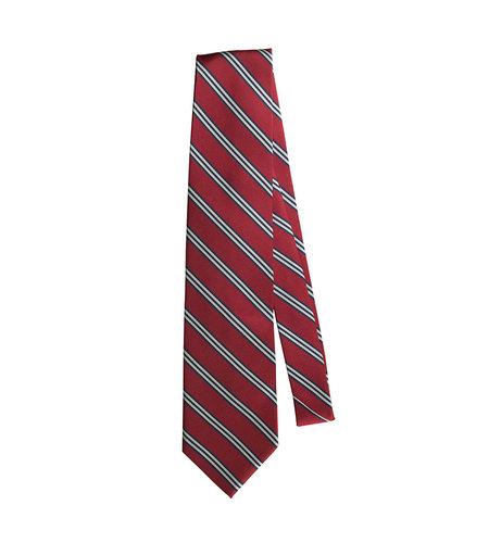 EE Dee Trim Red / Navy / White Striped Tie (52 inch)
