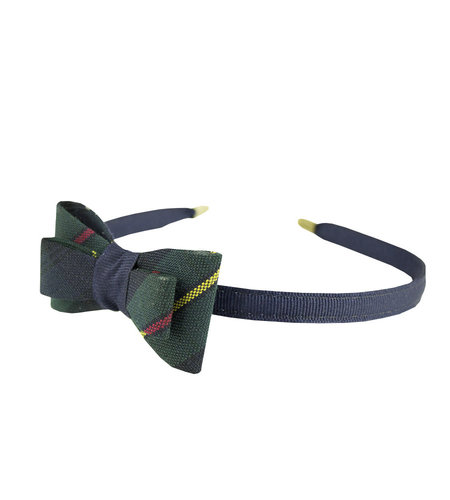 EE Dee Trim Belair Plaid #83 Bow Headband #FBE9HB