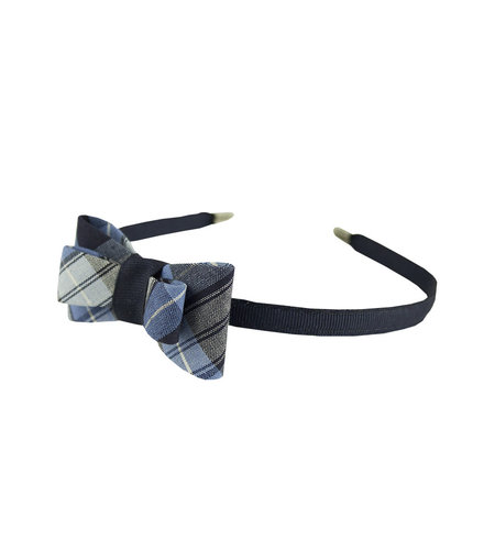 EE Dee Trim RR Plaid #76 Bow Headband #FBE9HB
