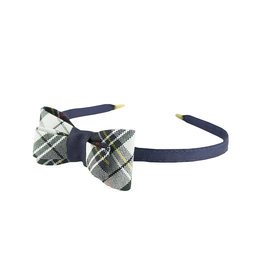 EE Dee Trim Marymount Plaid #8B Bow Headband #FBE9HB