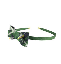 EE Dee Trim Christopher Plaid #1B Bow Headband #FBE9HB